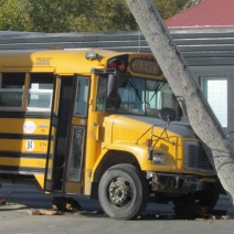 The bus sheared a hydro pole at the corner of Logan Avenue and Stanley Street.