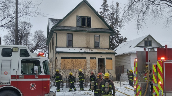 Firefighters complete a search of a vacant house for occupants on Sunday, January, 17, 2021. (Photo: Northern Plains Freelancer)